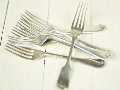 'Silver Vintage' Polished Silver Entree Forks