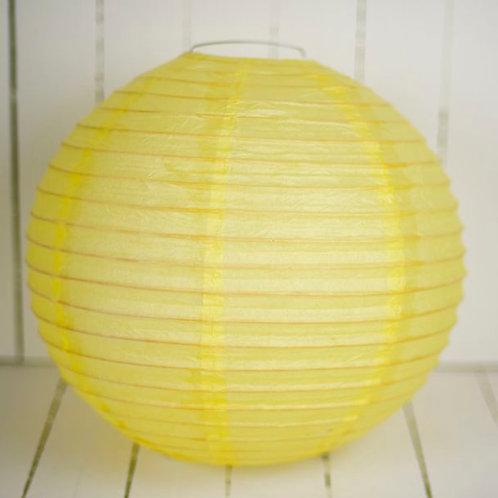 'Rice Lemon' - Lemon Paper Lantern 12 Inch