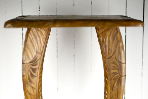 'Scroll' - Carved Wooden Occasional Table