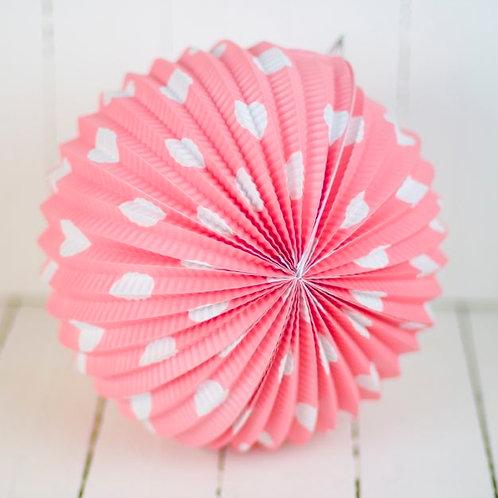 'Rice Polka Dot' - Pink Paper Lantern 10 Inch