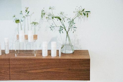 Science beaker hire with floral arrangement Brisbane wedding & event styling