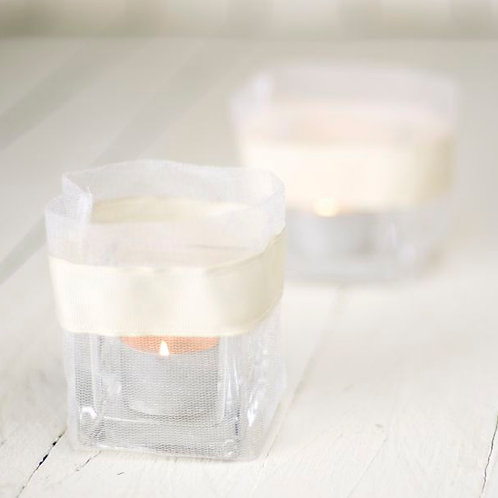 'Grace' White Organza Tea Light Bags