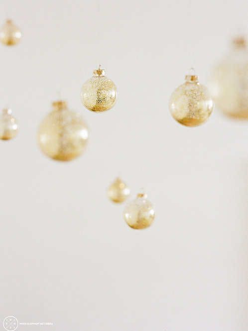 'Heavenly' Gold Glass Baubles