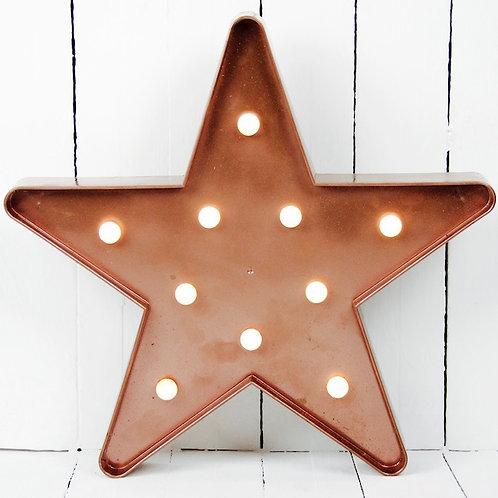 Copper star marquee light hire Brisbane wedding & event hire