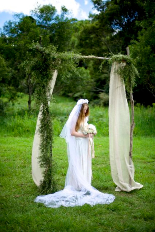 'Deep In A Forest' - Branch Beige Draped Arbour