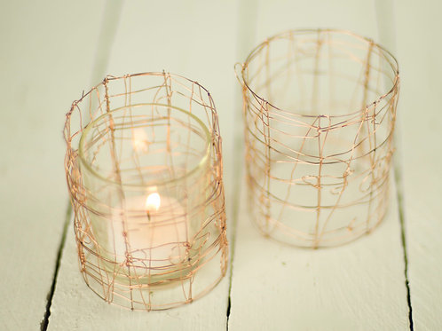 'Copperlight' - Copper Tea Light Wraps