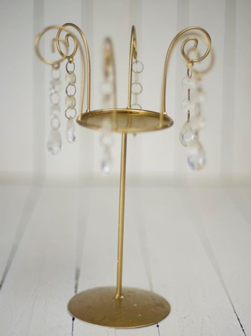 'Giselle' Gold & Crystal Candlestick