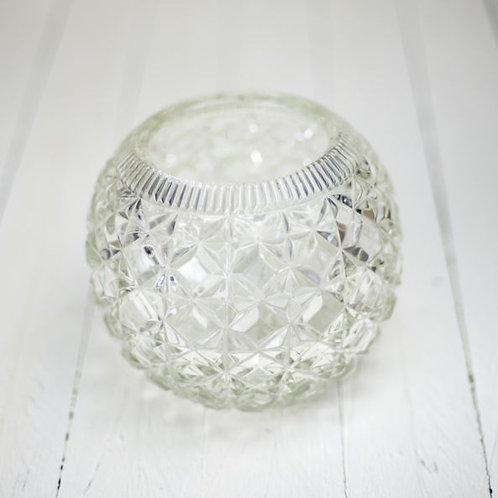 'Prism' - Crystal Fishbowl Vase