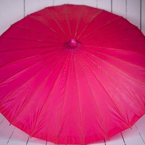 'Miss Deep' Dark Pink Paper Parasol