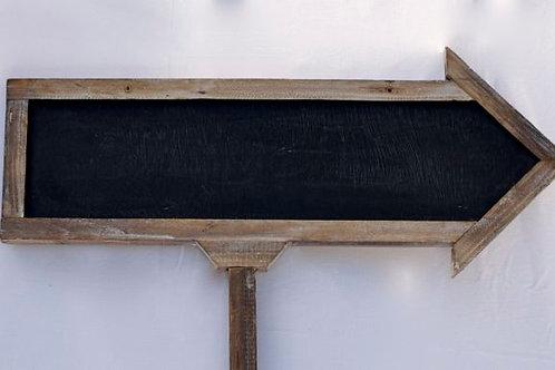 'Arrowobeaut' - Wooden Arrow Chalkboard