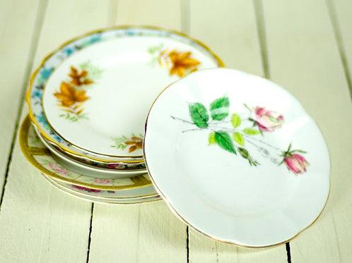 'Pauli' Vintage China Side Plates