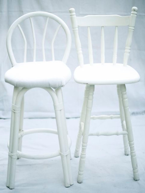 'Clair' - White Vintage Bar Stools