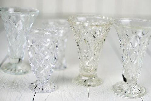 'Cora' - Medium Vintage Cut Glass Vases