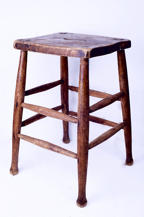 'Stool or Stand' - Vintage Wooden Stool