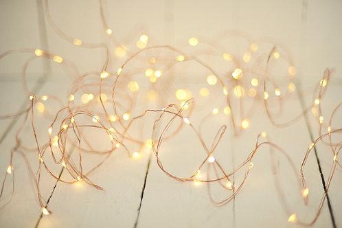 'Copper' - Warm Copper Battery Fairy Lights 10M
