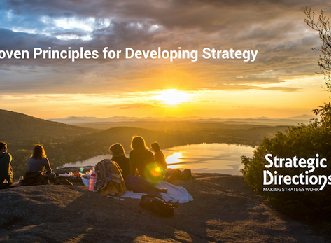 5 Proven Principles for Developing Strategy