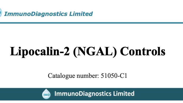 Neutrophil gelatinase-associated lipocalin (NGAL) Control