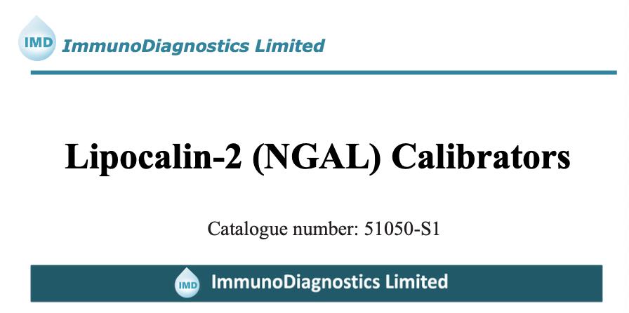 Neutrophil gelatinase-associated lipocalin (NGAL) Calibrator