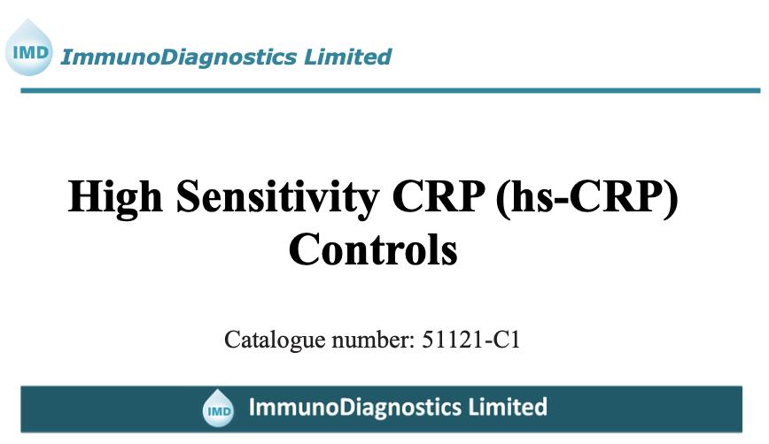 High Sensitivity C-Reactive Protein (hs-CRP) Control