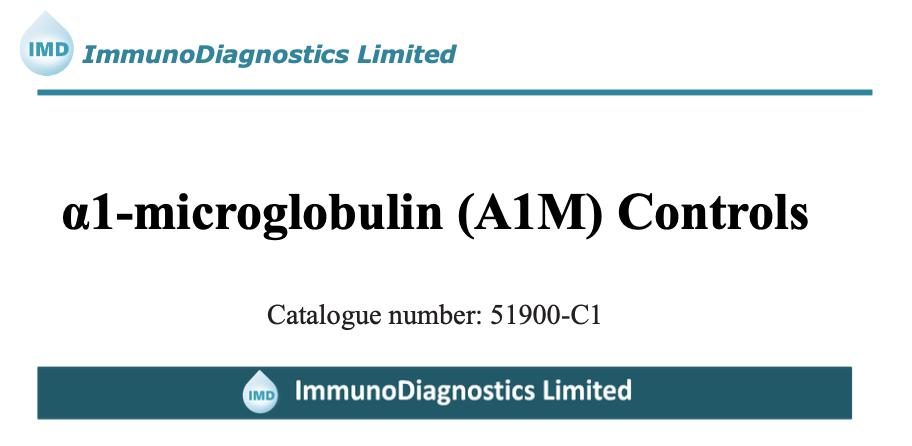 α1-Microglobulin (A1M) Control