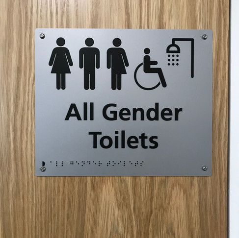 All Gender Toilet Signs