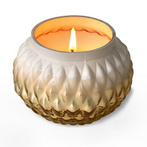 Grapefruit Pine Gold Globe Candle