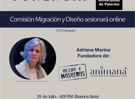 Ponencia UP 29.7: Adriana Marina en sesión con la Comisión Migración y Diseño