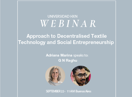 Webinar 22.9: Approach to Decentralised Textile Technology and Social Entrepreneurship