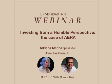Webinar 21.7: Investing from a Humble Perspective: the case of AERA