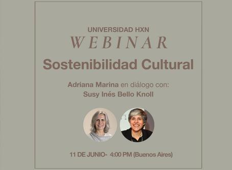Webinar: Sostenibilidad cultural
