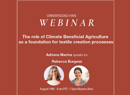 Webinar 19.8: Adriana Marina speaks to Rebecca Burgess
