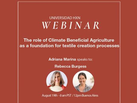 Webinar 19.8: Adriana Marina speaks to Rebecca Burgess