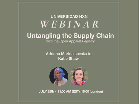 Webinar 28.7: Untangling the Supply Chain with the Open Apparel Registry