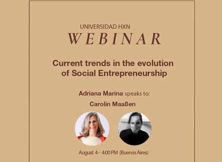 Webinar 4.8: Current trends in the evolution of Social Entrepreneurship