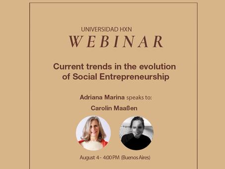 Webinar 4.8: Current trends in the evolution of Social Entrepreneurship