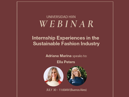 Webinar 30.7: Internship Experiences in the Sustainable Fashion Industry