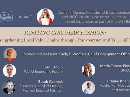 HLPF United Nations: HxN igniting Circular Fashion through collaboration