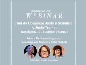 Webinar 10.9: Red de Comercio Justo y Solidario y Justa Trama, transformando costuras y tramas
