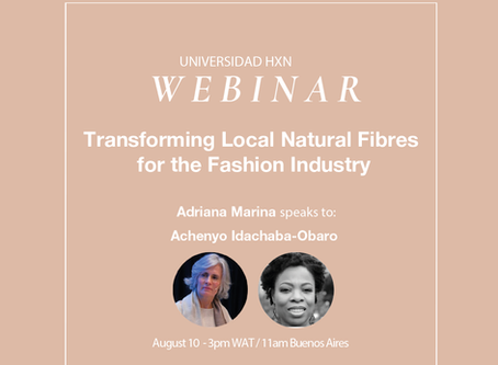 Webinar 10.8: Transforming Local Natural Fibres for the Fashion Industry