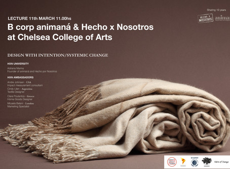 Lecture 11.3: Hecho x Nosotros & animaná at Chelsea College of Arts