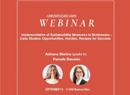 Webinar 15.9: Implementation of Sustainability Measures in Businesses-Case Studies
