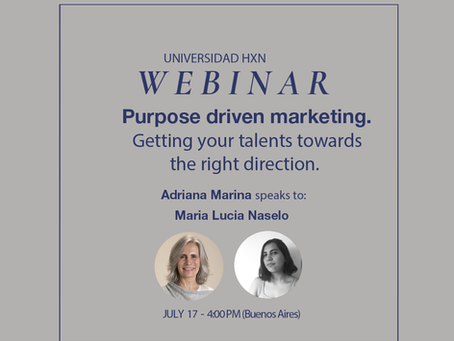 Webinar 17.7: Purpose driven marketing. Getting your talents towards the right direction.