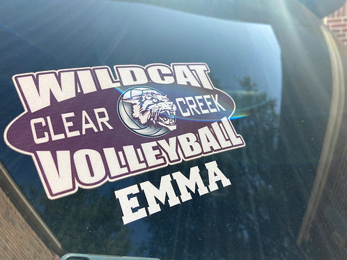 Wildcat Volleyball Car Decal