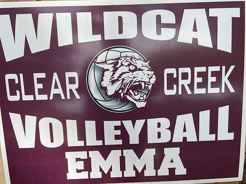 Clear Creek Volleyball Yard Sign