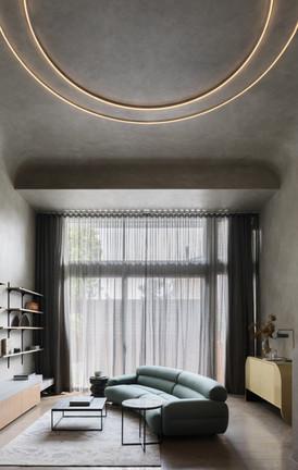 Micro-cement luxury living area