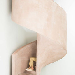 Curved Pink Polished Plaster Spiral Stairway.jpg