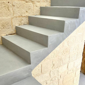 Micro-cement stairs