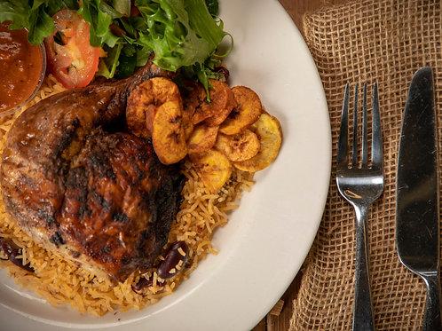 Jerk Chicken Dinner (1 serving)