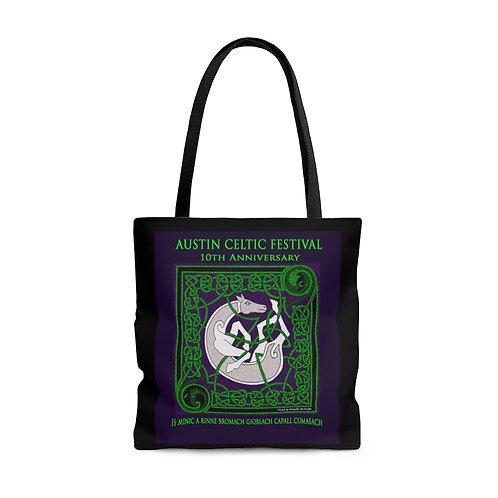 2006 Austin Celtic Festival Vintage Logo AOP Tote Bag