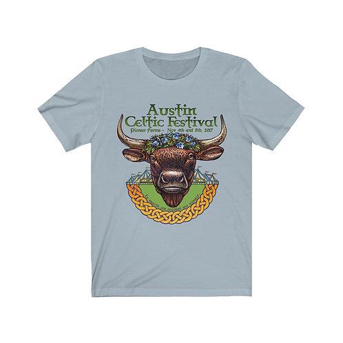 2017 Austin Celtic Festival Bull of Cooley Unisex Jersey Short Sleeve Tee